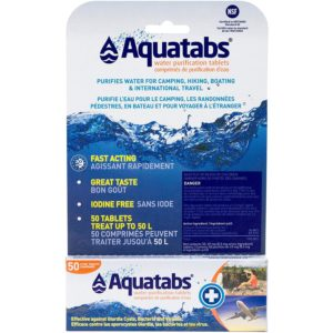 Aquatabs Water Purification Tablets - 2 Pack