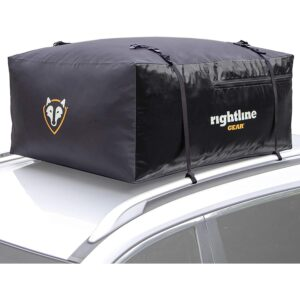 Rightline Gear 100S20 Sport 2 Car Top Carrier, 15 Cubic feet, 100% Waterproof, Works with or Without Vehicle roof Rack