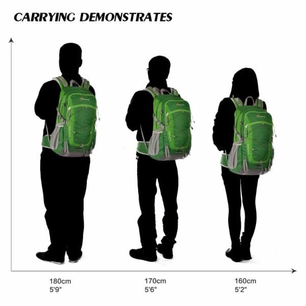 Mountaintop 40 Liter Unisex Hiking/Camping Backpack