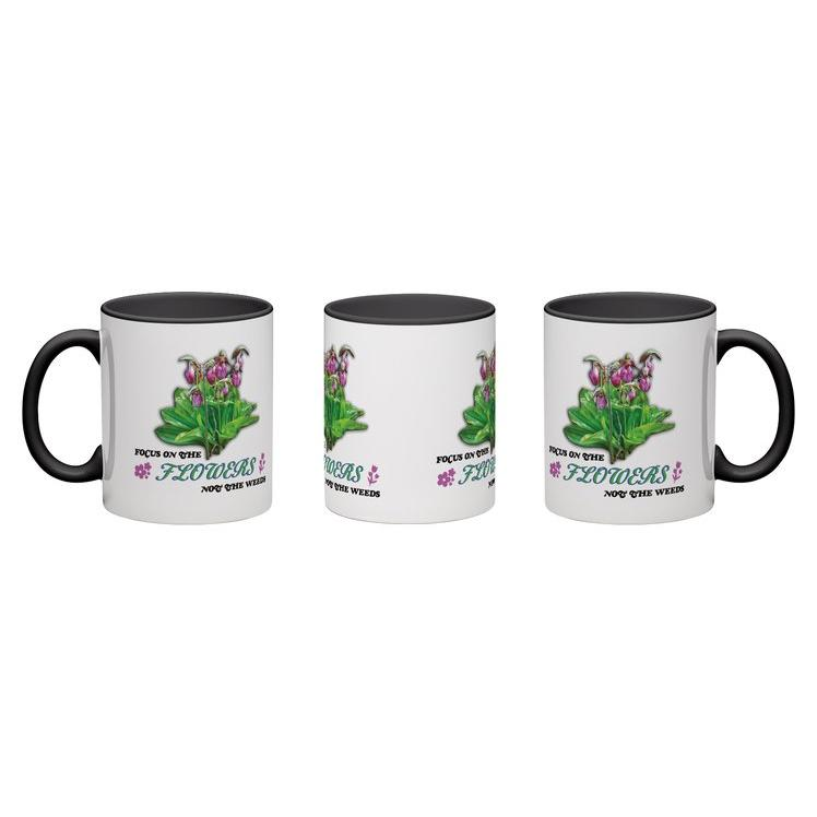 focus on the flowers 11oz coffee mug