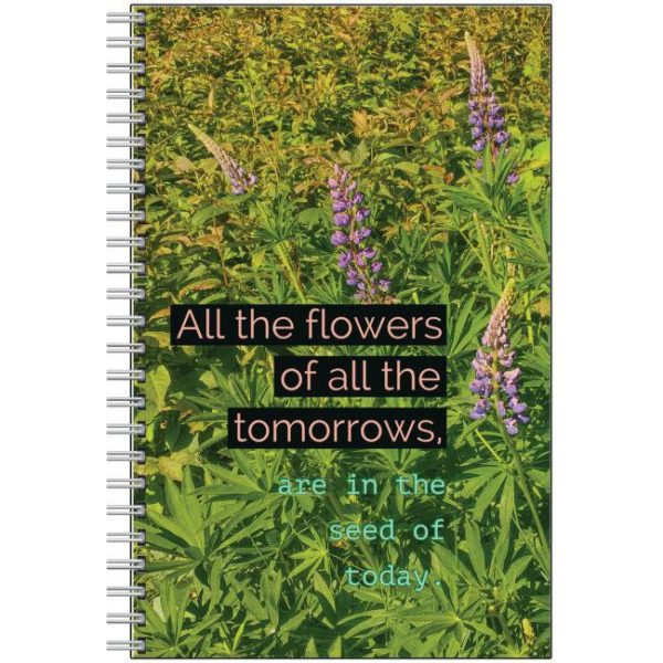 notebook lupin flowers