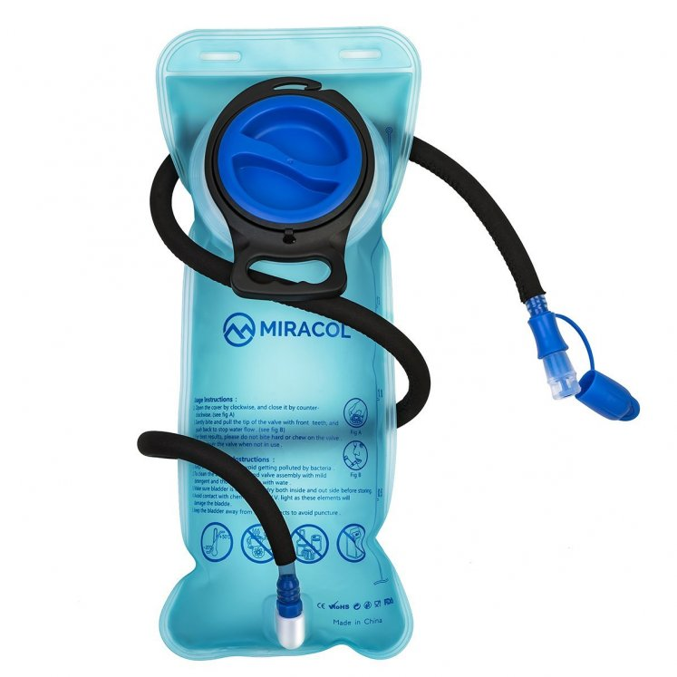 Miracol Hydration Bladder 2 Liter Water Reservoir w/ Insulated Hose
