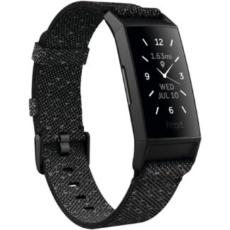 Fitbit Charge 4 Fitness and Activity Tracker with Built-in GPS, Heart Rate, Sleep & Swim Tracking, Black/Black, One Size (S &L Bands Included)
