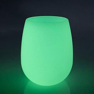 4 Pack Silicone Wine Glasses – Glow in The Dark Cups (12 oz / 350 ml) - Unbreakable, Portable and Durable