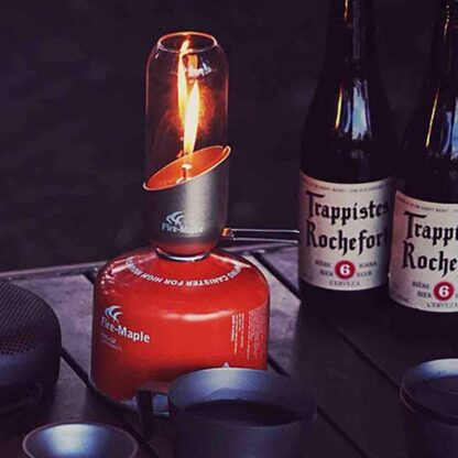 Gas canister camping lantern