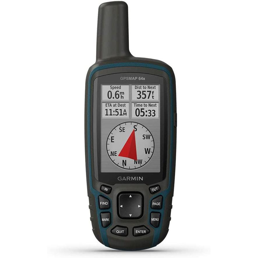 Garmin Gpsmap 64X, Handheld GPS, Preloaded with Topoactive Maps