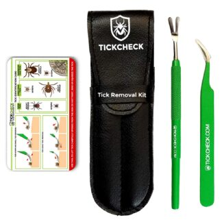 TickCheck Premium Tick Remover Kit - Stainless Steel Tick Remover