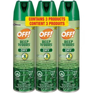 OFF! Deep Woods Insect Repellent Dry, 3 pack Value Pack