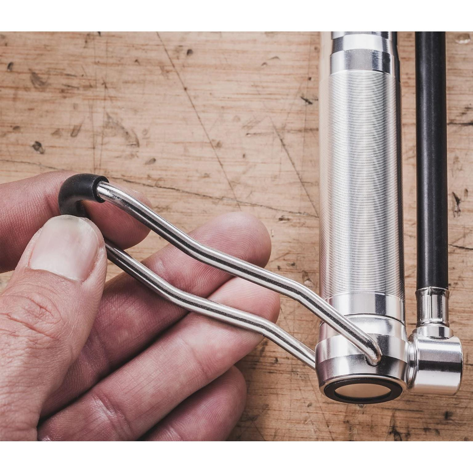 Mini Floor Bike Pump, Super Fast Tire Inflation, Secure Presta and Schrader Valve Connection. High Pressure Bicycle Pump with Stabilizing Foot Peg for Road, Mountain, Touring, Hybrid and Fat Tires