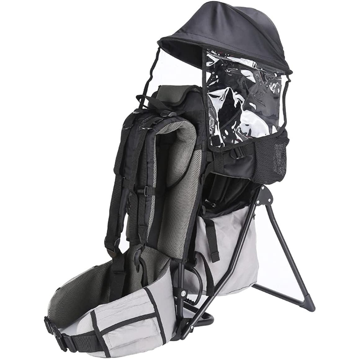 Baby Toddler Hiking Backpack Carrier Camping Child Carriers with Rain Cover Stand Child Kid Sun Shade Visor Shield for Children Between 6 Months-4 Years Old