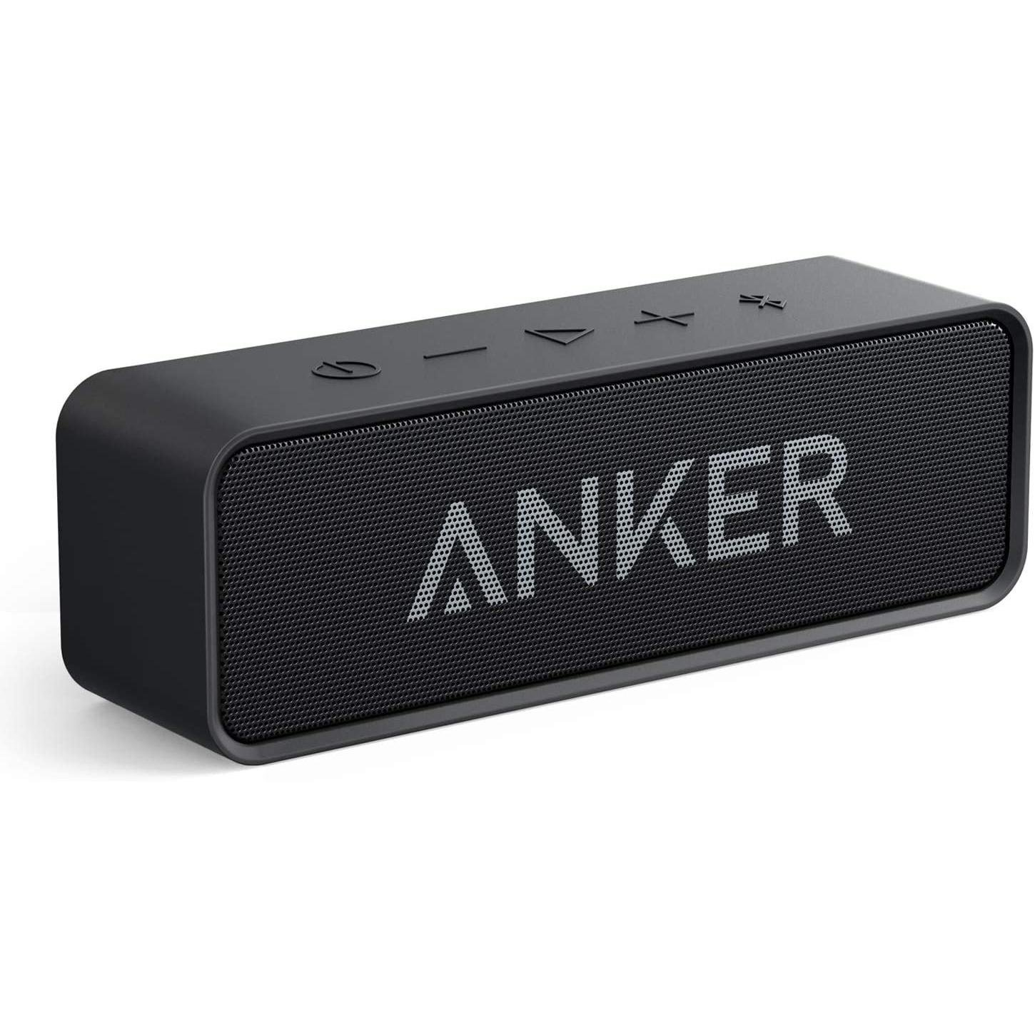 Anker Soundcore Bluetooth Speaker with Loud Stereo Sound, 24-Hour Playtime, 66 ft Bluetooth Range, Portable Wireless