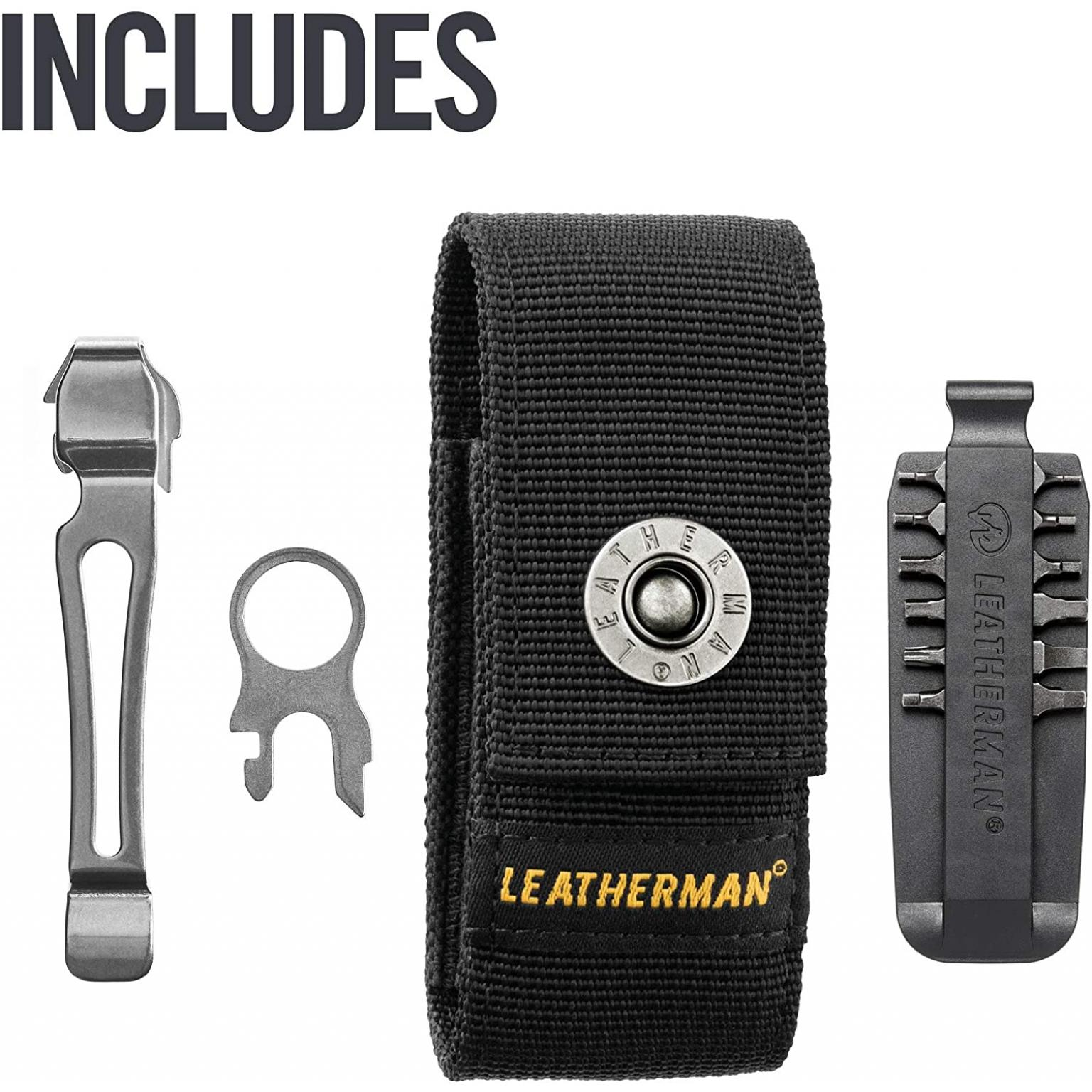 LEATHERMAN, Charge Plus Multitool with Scissors and Premium Replaceable Wire Cutters, Stainless Steel with Nylon Sheath