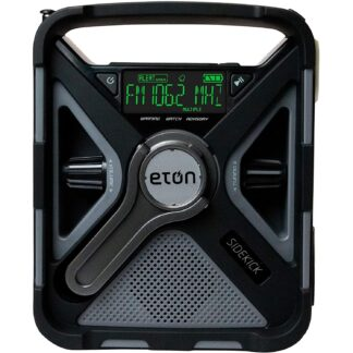 Eton Ultimate Camping Am/FM/NOAA Radio with S.A.M.E Technology, Smartphone Charging, Bluetooth, Giant Ambient Light and Solar Panel, NFRX5SIDEKICK